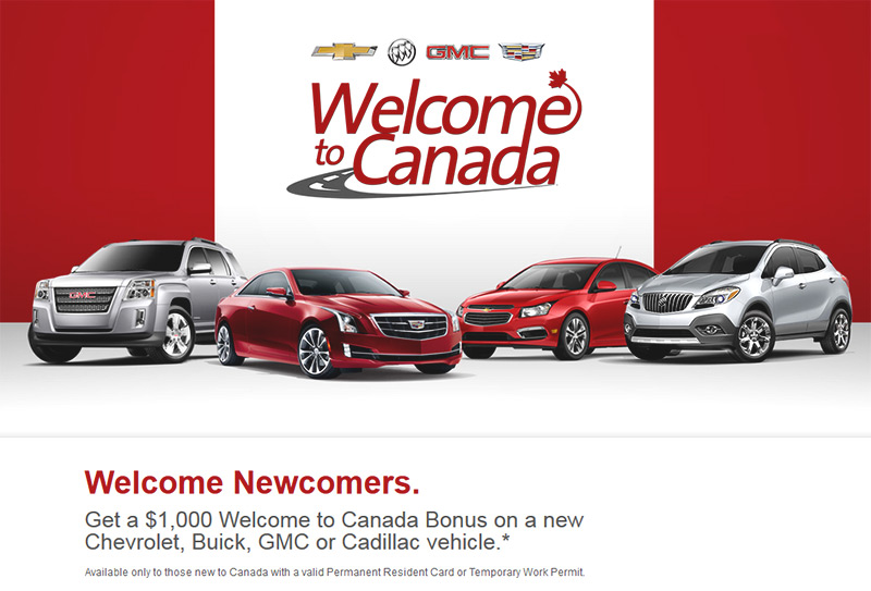 New to Canada GM bonus