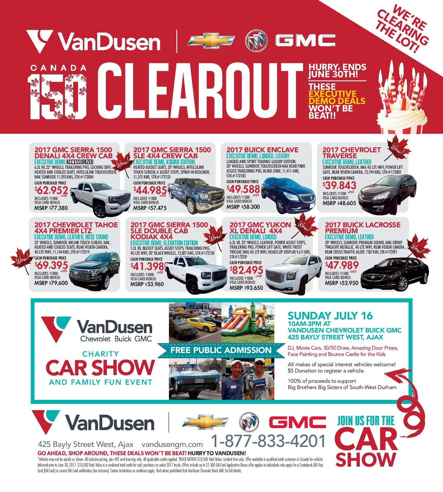 Cars Trucks SUVs Discount Sale Clearout Ajax Durham Region Oshawa