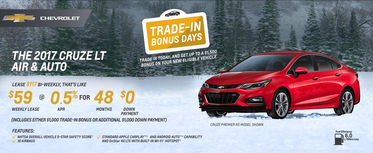 Cruze LT Trade-In Days VanDusen Chevrolet Buick GMC