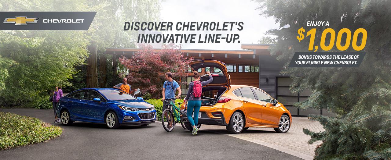 Chevrolet Chevy Cruze Lease Cash Deals Specials Discounts Ajax Pickering Durham