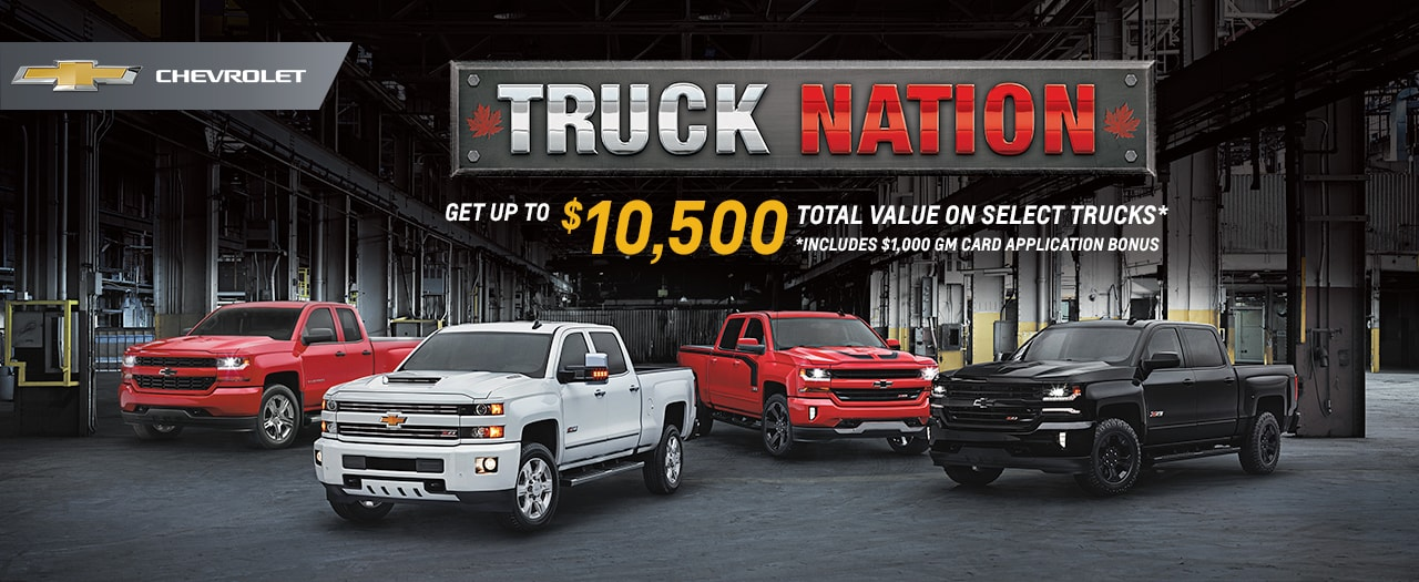 2017 Chevrolet Silverado Truck Nation Month Specials in Ajax Durham Toronto