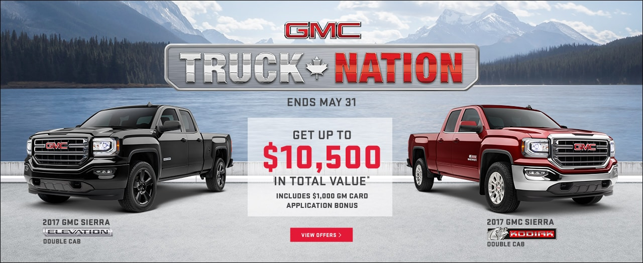 2017 GMC Sierra Truck Nation Month Specials in Ajax Durham Toronto