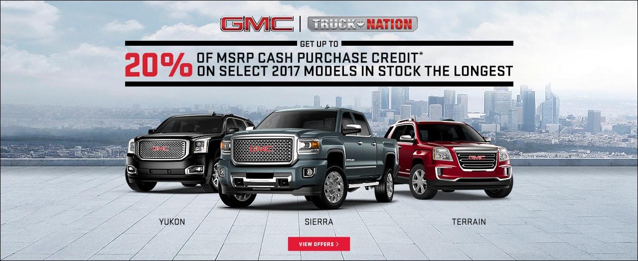 2017 GMC Sierra 20% of MSRP Truck Nation Month Specials in Ajax Durham Toronto