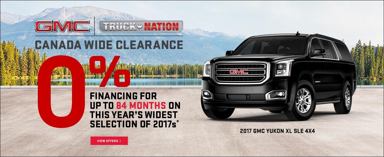 GMC Trucks Canada Wide Clearance Sale Discount