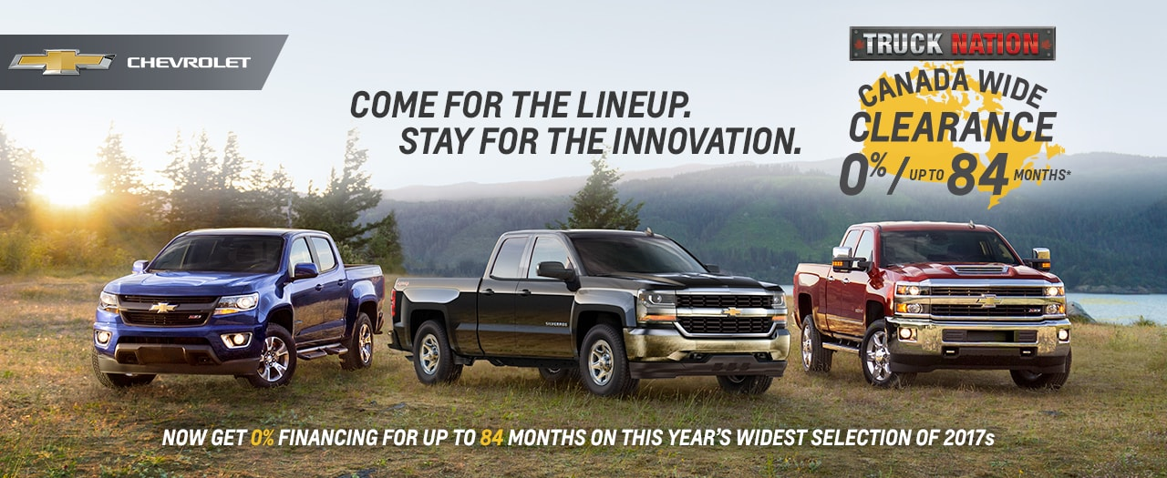 Chevrolet Truck Nation Canada Wide Clearance Sale Discount