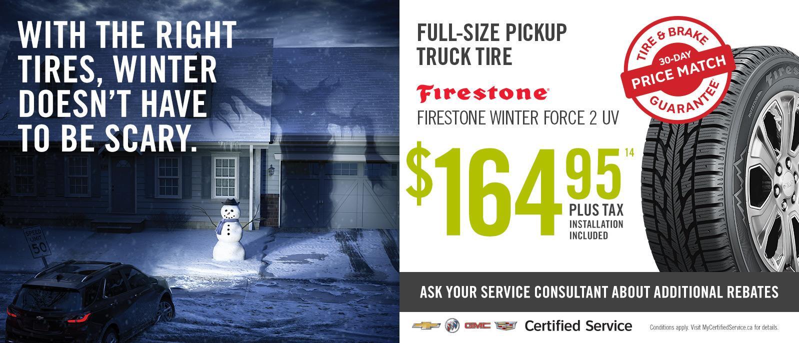Winter Tire Special Deal Pickup Truck Goodyear from $99.95 VanDusen Ajax Ontario