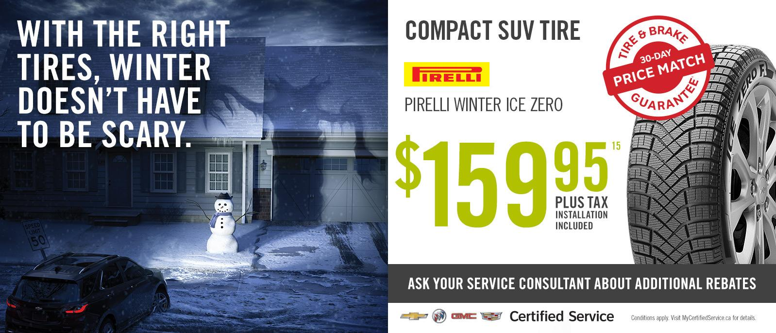 Winter Tire Special Deal Compact SUV Goodyear from $99.95 VanDusen Ajax Ontario
