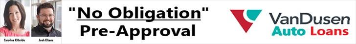 No Obligation PRe-Approval Caroline Kilbride Josh Eikens VanDusen Autoloans Ajax Ontario