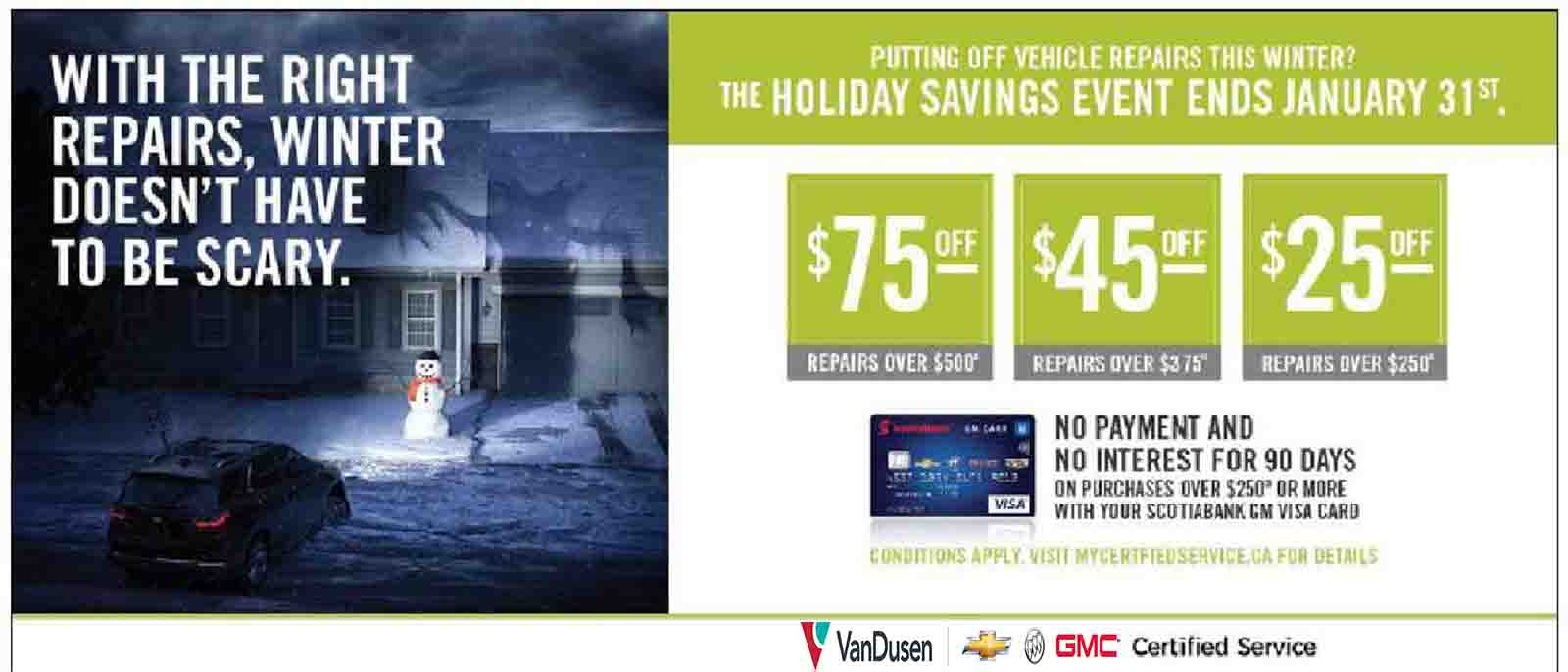 Holiday Sales Event VanDusen Chevrolet Buick GMC Ajax Pickering Whitby