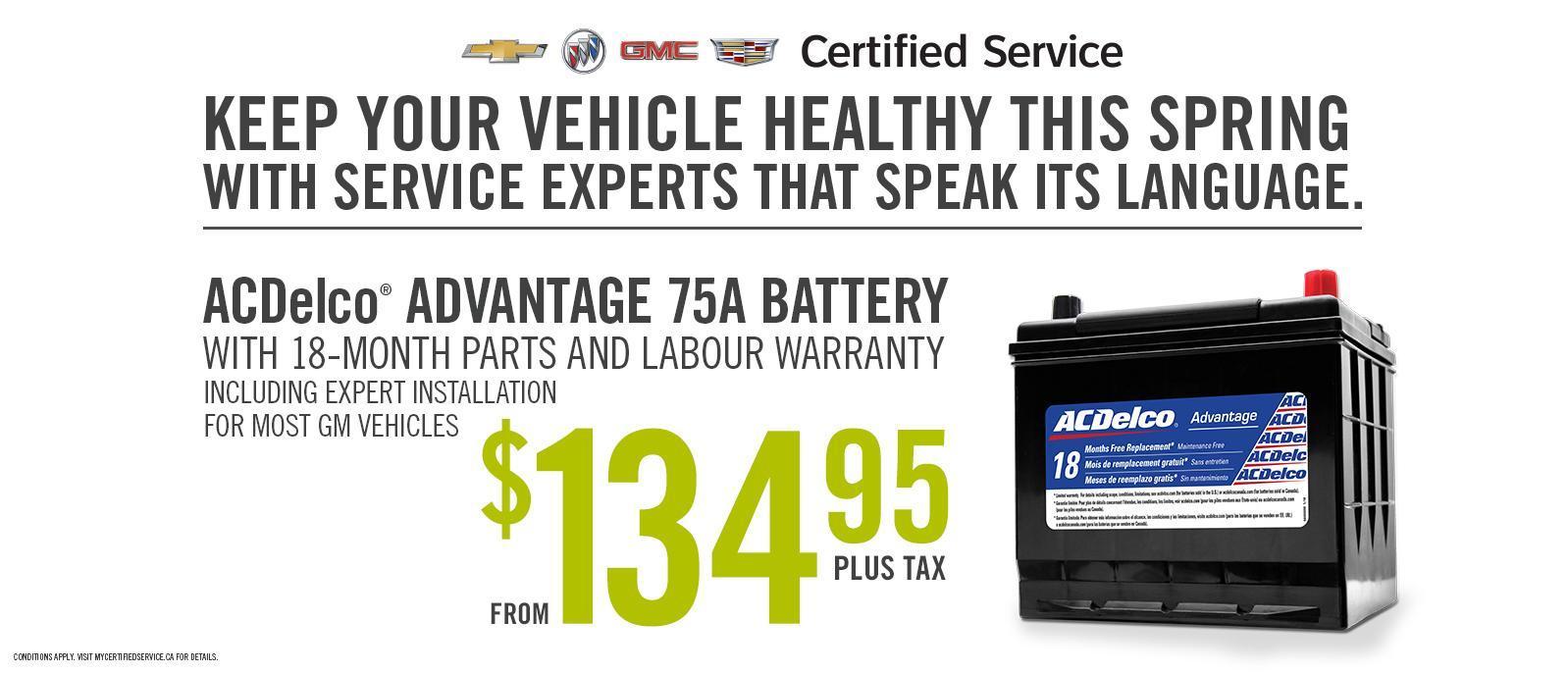 ACDelco Battery Multi Point Vehicle Check Ajax Pickering Whitby Oshawa Clarington VanDusen Ontario
