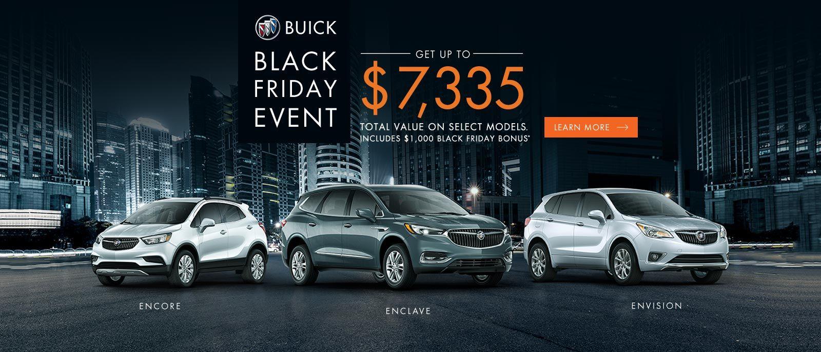 Black Friday Event 2018 Buick Encore Enclave Envision VanDusen Ajax 1600x868
