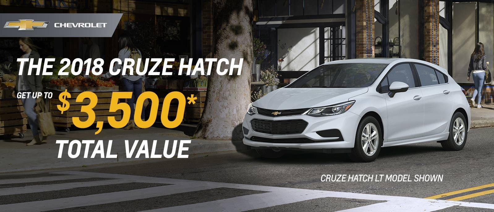 Black Friday Event 2018 Chevrolet Cruze Hatchback up to $3500 VanDusen Ajax