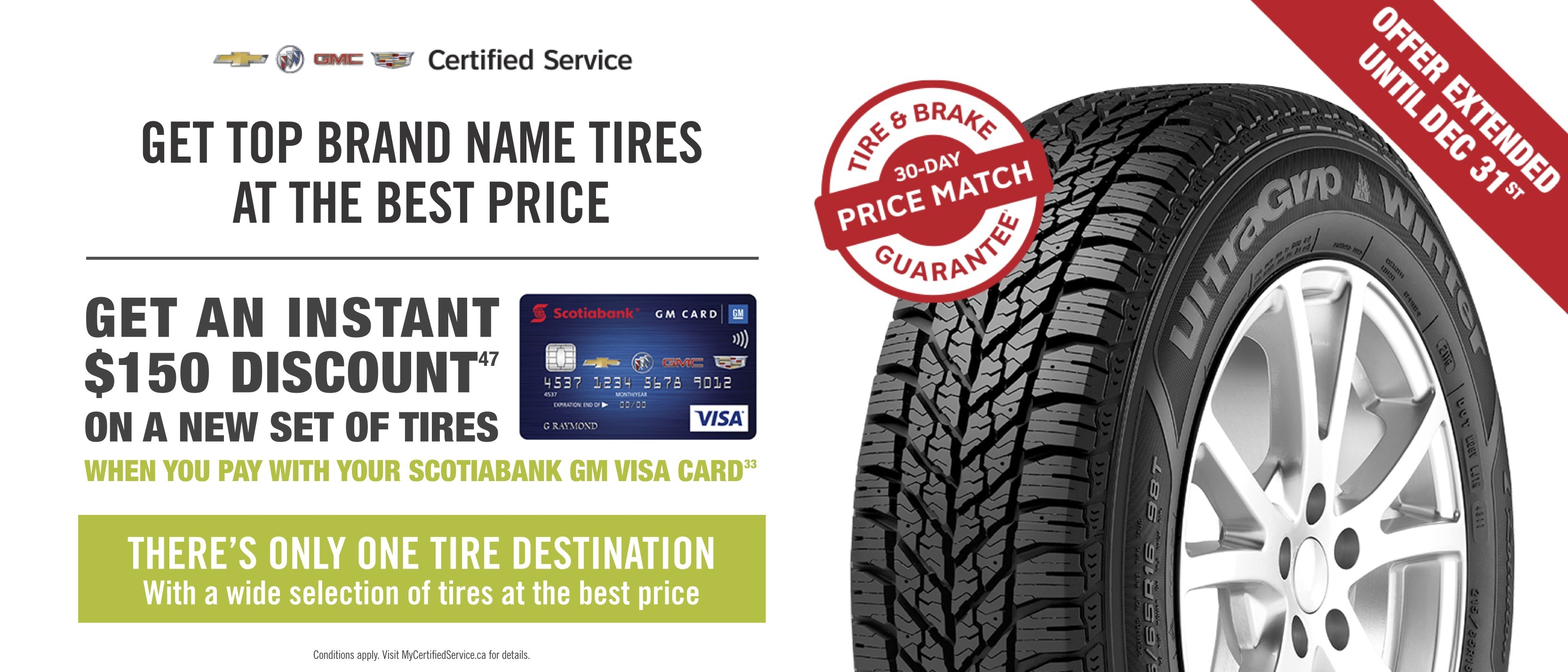 GM Card Tire Promotion Extended Dec 31 Certifed Service VanDusen Ajax Pickering Whitby Oshawa Durham Region Ontario