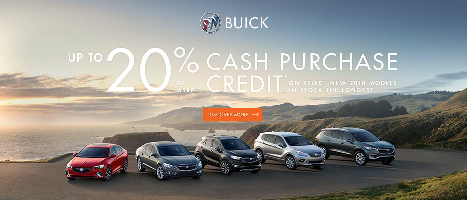 20% of MSRP Cash Purchase Credit 2018 Buick Encore Enlave Regal 1600x868