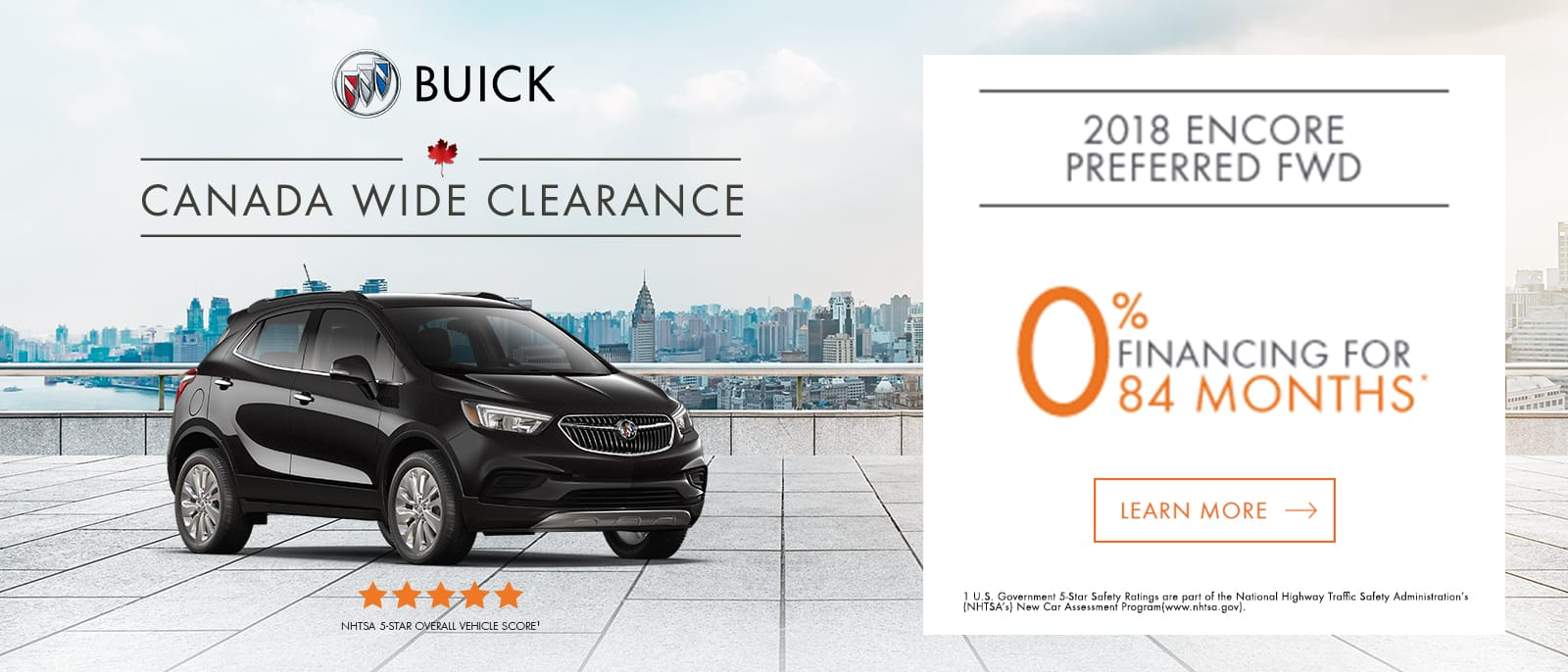September 2018_Buick Encore Canada Wide Clearance 0% 84 months 1600x686