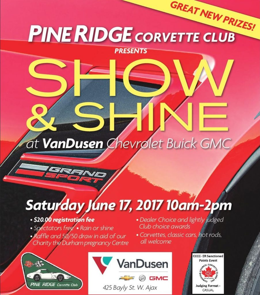Pine Ridge Corvette Club 2017 Ajax Durham Region