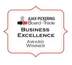 Ajax Pickering Board of Trade Business Excellence Award Winner