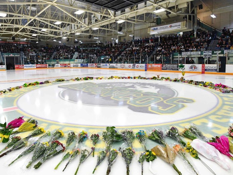 Humboldt-Strong-Hockey-Stick-Arena-Flowers-Ajax-VanDusen-Ontario