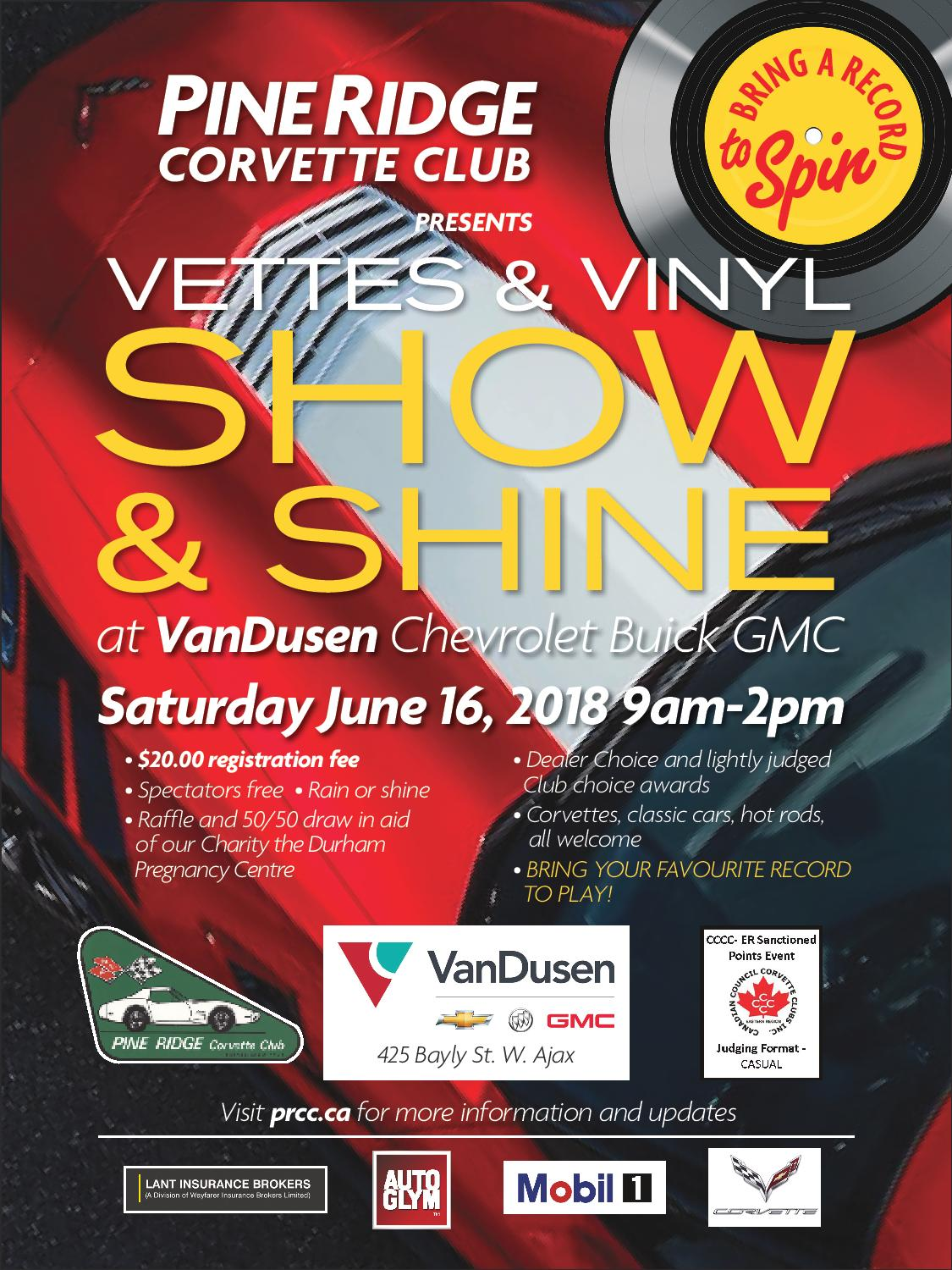 PineRidge Corvette Club Show & Shine - VanDusen Ajax Durham Region Ontario