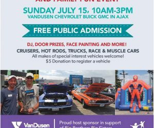 VanDusen 5th Annual Charity Car Show and Family Fun Event Ajax Durham Region Ontario