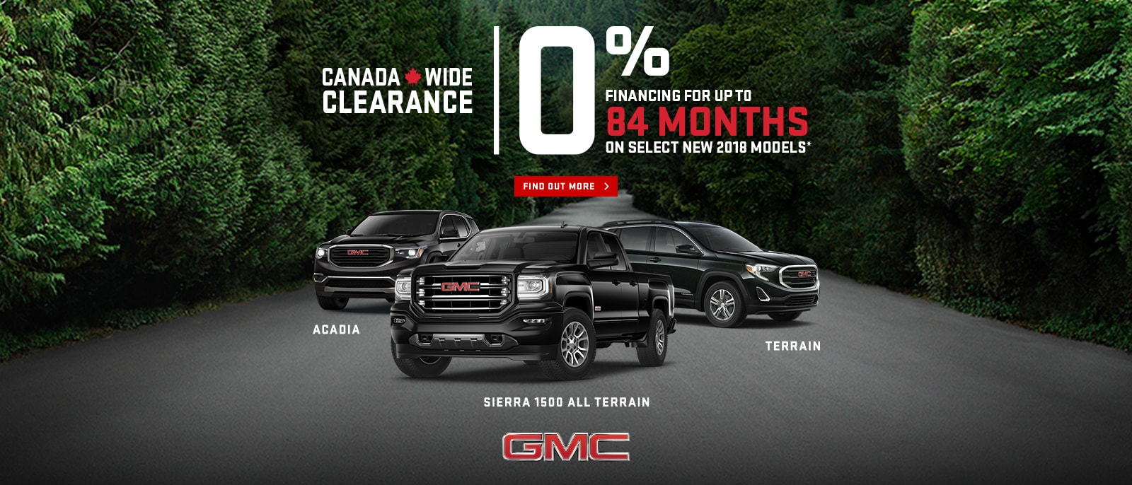 Canada Wide Clearance 0% Financing up to 84 Months Canyon Sierra 1500 Terrain Acadia Yukon Ajax VanDusen Durham Region1600x686-min