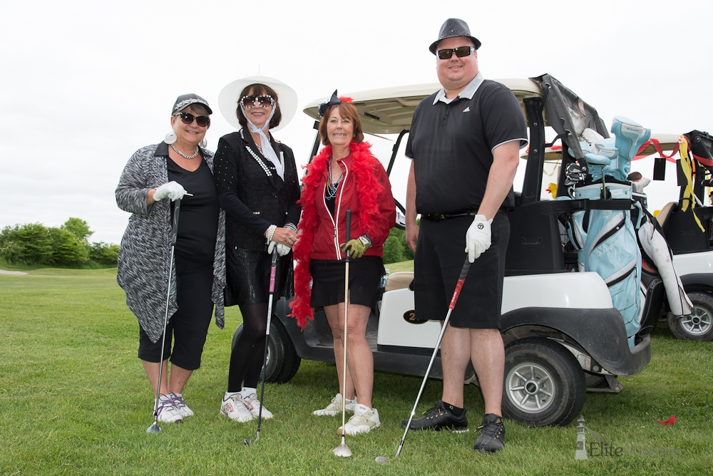 Who's your Caddy! Ajax VanDusen Mike Przybylo Foursome Golf Cart