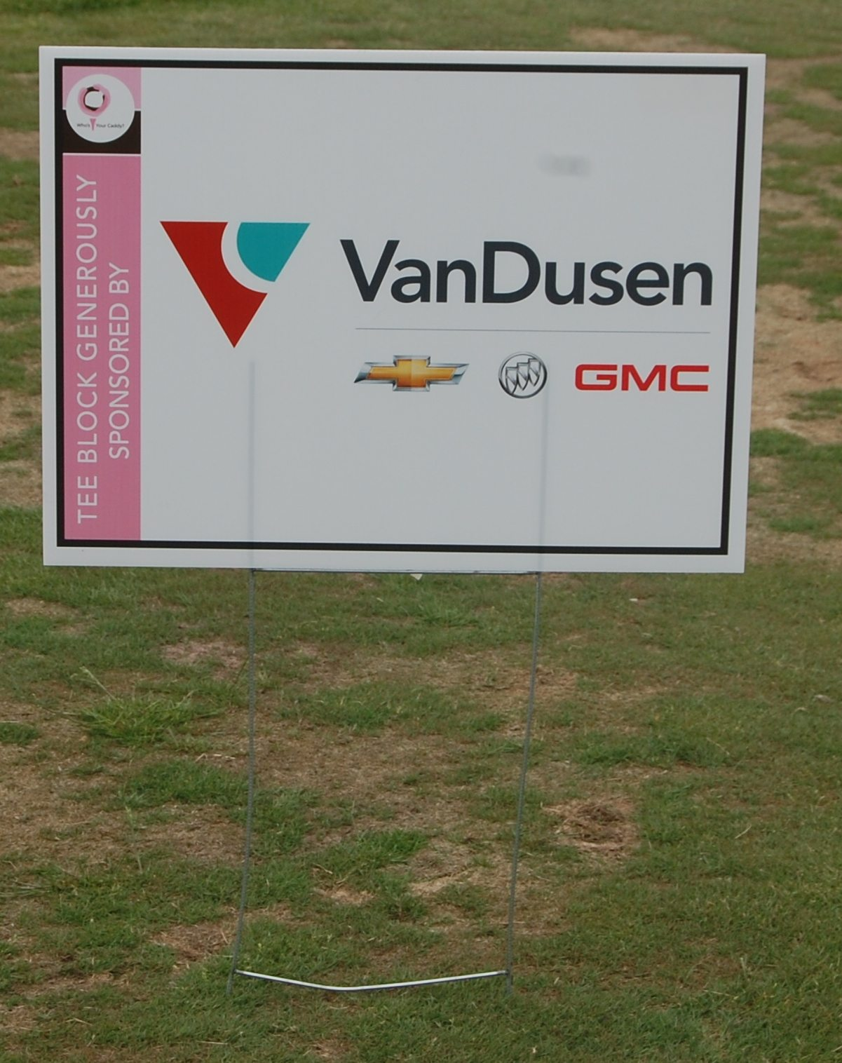 Who's your Caddy! Ajax VanDusen Sign and Mike Przybylo