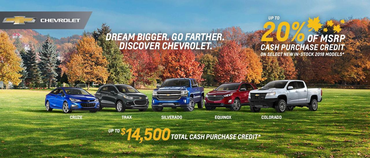Chevrolet Silverado Colorado Cruze Traverse Up to 20% of MSRP VanDusen Ajax Pickering whitby Oshawa Durham Region