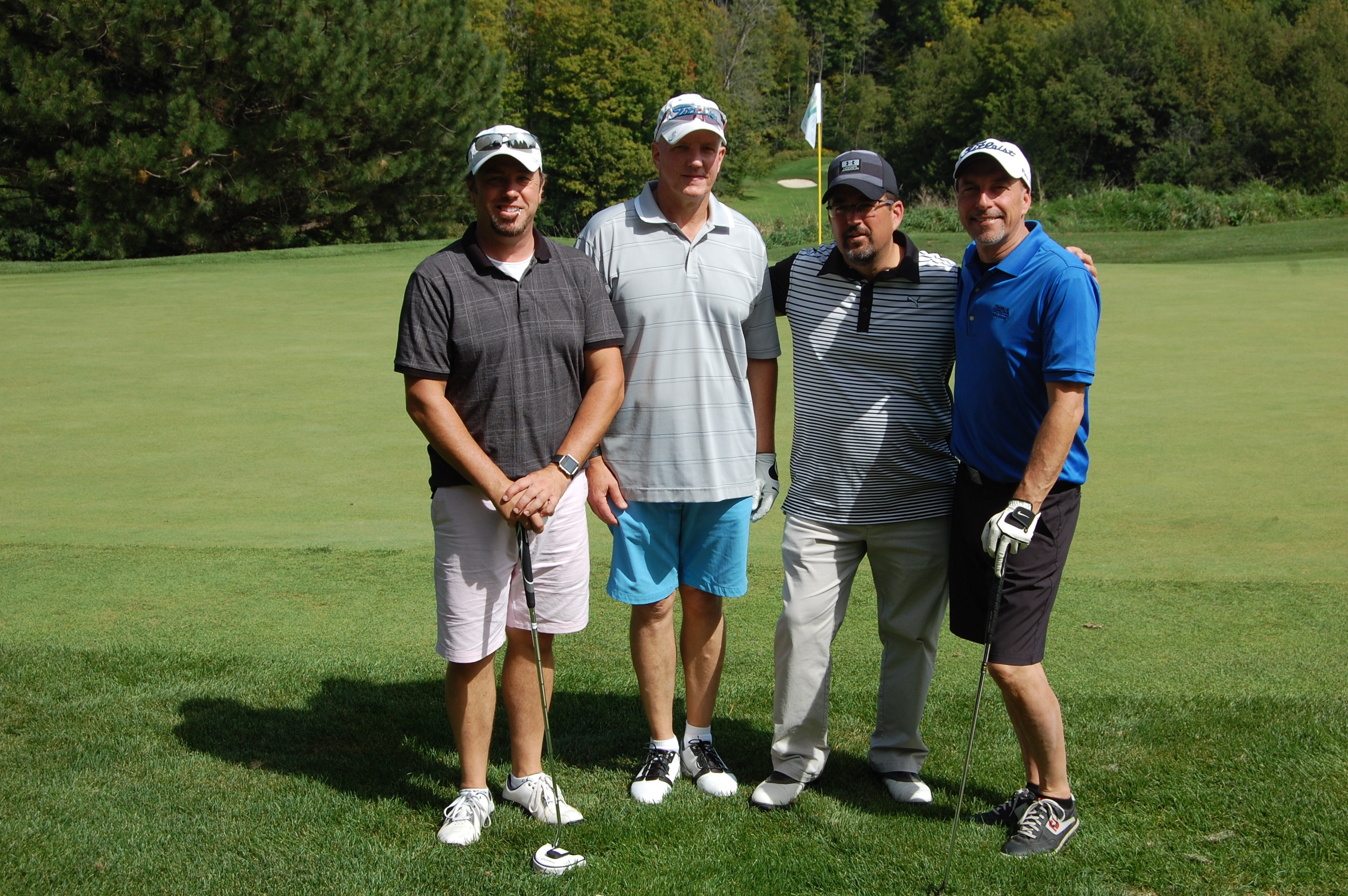 Ajax Pickering Hospital Foundation Mayors' Charity Golf Classic Jim VanDusen Chris McMurray Jim Pithie Brad Bertram