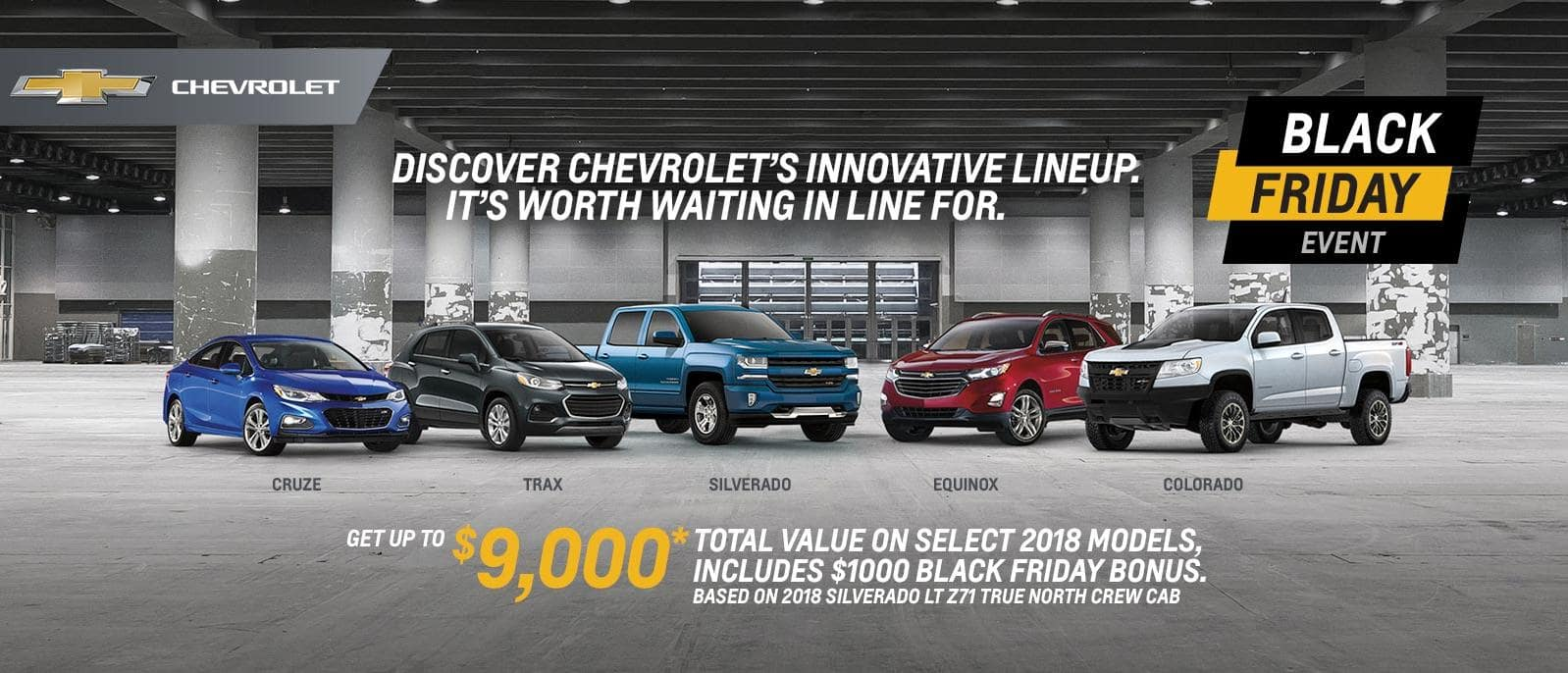 Black Friday Event 2018 Chevrolet Silverado Cruze Colorado VanDusen Ajax 1600x868