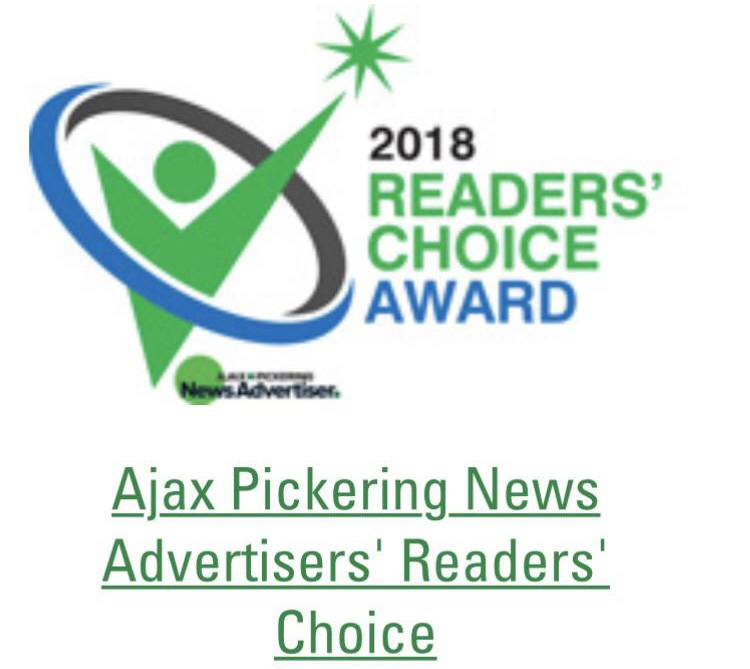 2018 Readers' Choice Award Ajax Pickering News Advertisers VanDusen Ontario crop