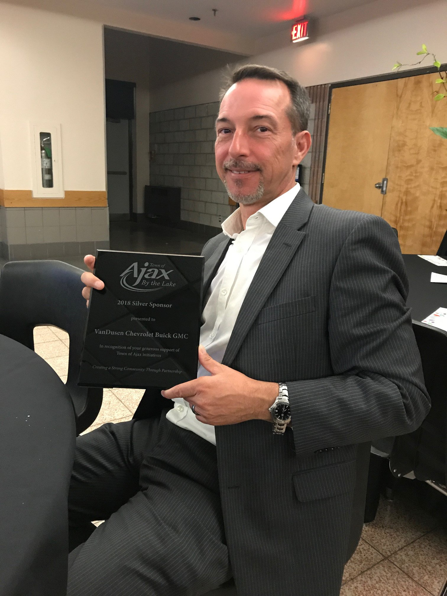 2019 Ajax Community Awards Jim VanDusen Silver Sponsor