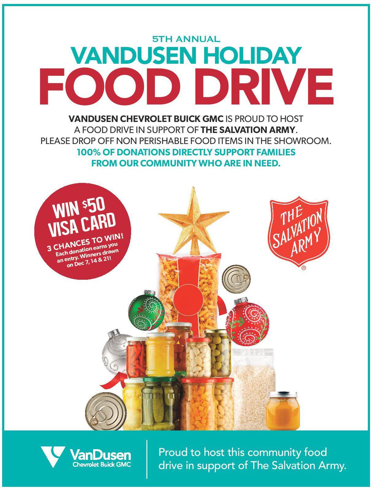 VanDusen Holiday Food Drive 2018 Ajax Ontario