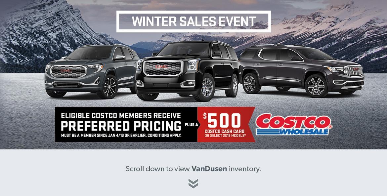 GM Costco Winter Sales Event Ajax