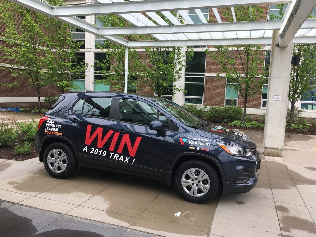 VanDusen Chevrolet Buick GMC and Ajax Pickering Hospital foundation giveaway a new 2019 Chevrolet Trax.