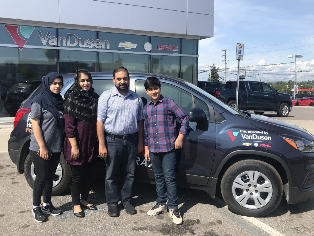 Congratulations to our Trax Winner 2019. Asad Khalique and family from Ajax who were the lucky winners of the 2019 Chevrolet Trax.