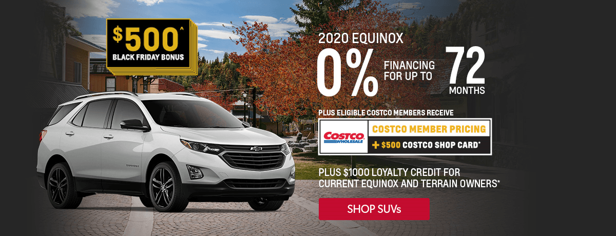 Costco Member pricing, 0% financing and black friday event. Great deals on GM vehicles at VanDusen Chevrolet Buick GMC in Ajax, Ontario