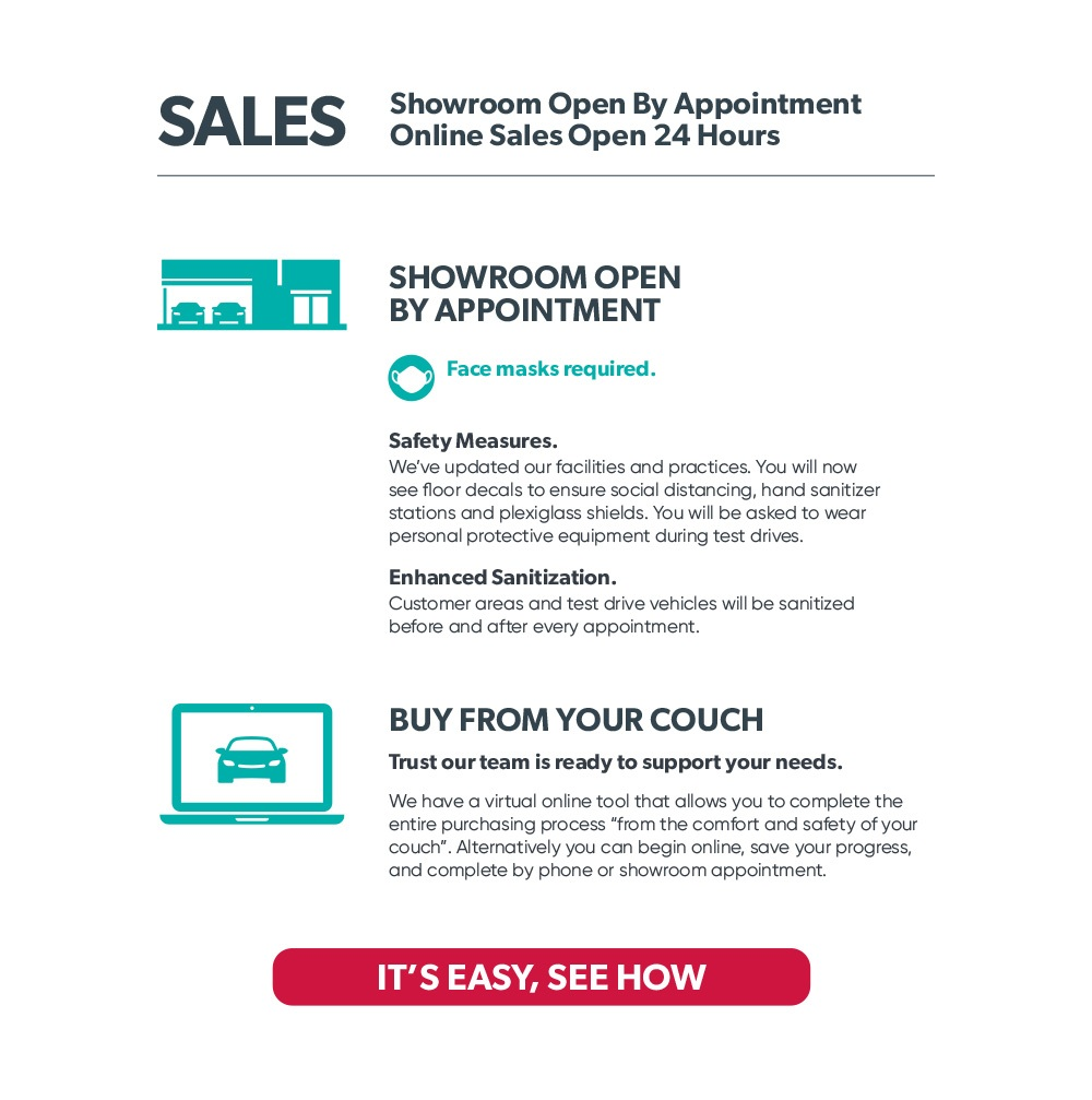 Sales Showroom Open by Appointment