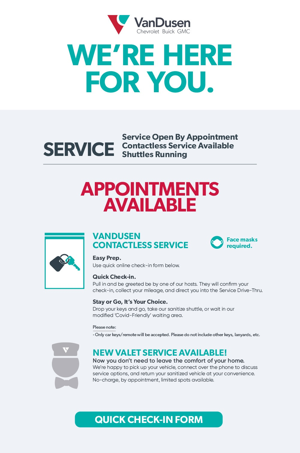 Service Appointments Available